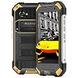 Blackview BV6000 Outdoor Handy,32GB ROM + 3GB RAM mit 4.7 Zoll Display IP68 Smartphone Wasserdicht, Staubdicht Stoßfest, 13MP + 5MP Kamera 4500mAh 9V 2A Schnellladung Robust Smartphone,Gelb