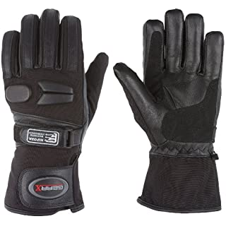 All weather Motorbike Gloves Waterproof Padded Protection (L)