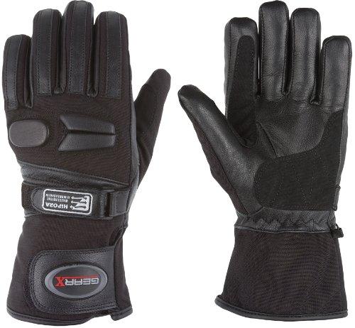 Allwetter Motorrad handschuhe Wasserdichter Gepolsterter Schutz, XL