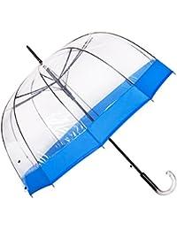 Paraguas Transparentes Mujer Antiviento, Forma Cúpula, Abre Automático. Paraguas Originales Burbuja Resistente y