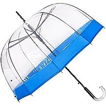 Paraguas Transparente de Mujer, Función Antiviento. Paraguas Grande, Elegante, Muy Resistente y de Alta Calidad. Paraguas Original y Gran Regalo. Garantía de Satisfacción