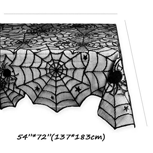 NSC Party Tablecloth Halloween Ghost Festival Black Spider Web Bat Tablecloth Rectangular Table Cloth Nightclub Bar Decor