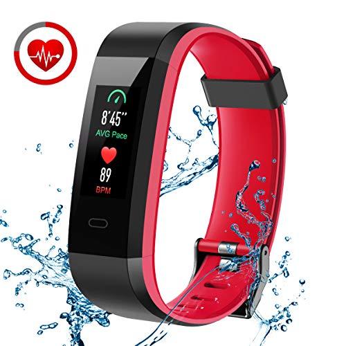 Pulsera Actividad, CHEREEKI Fitness Tracker IP68 Impermeable Monitor de Frecuencia Cardiaca 14 Modos de Ejercicio/Seguimiento del Sueño/Recordatorio Sedentario/SMS Push