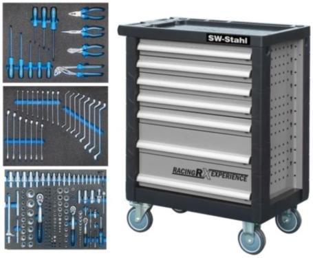 Preisvergleich Produktbild SW-Stahl Z3703 Werkstattwagen mit 7 Schubladen
