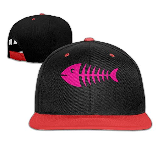 Pink Fishbone Adults Baseball Hats,Classic Punk Rock Caps for Four Seasons