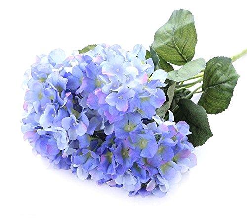 Fletion 1pz fiori di seta artificiale ortensia