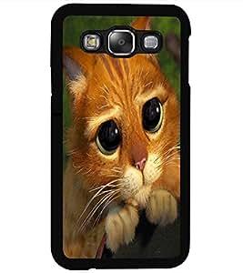 ColourCraft Cute Cat Design Back Case Cover for SAMSUNG GALAXY E5