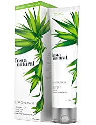 InstaNatural Charcoal Mask for Face - Acne Eliminating Formula to Get Rid of Blackheads, Unclog Facial Pores & Clear Skin - Contains Charcoal Powder &