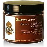Jabón negro exfoliante con eucalipto 100% Natural - Exfolia y Limpia para una piel Suave y Sedosa - 250g