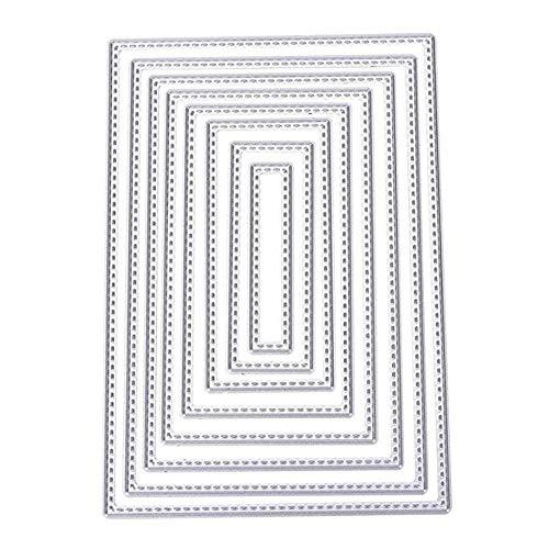Newin Star 8pcs forma rectangular troqueles de corte de metal plantilla de la plantilla para DIY álbum de recortes de Halloween Navidad Decoración de Acción de Gracias regalo