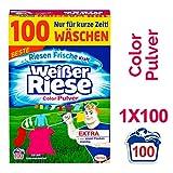 Weißer Riese Color Pulver, Waschmittel, 100 Waschladungen, extra stark gegen...