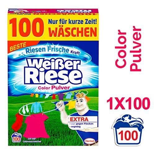 Weißer Riese Color Pulver, Waschmittel, 100 Waschladungen, extra stark gegen Flecken