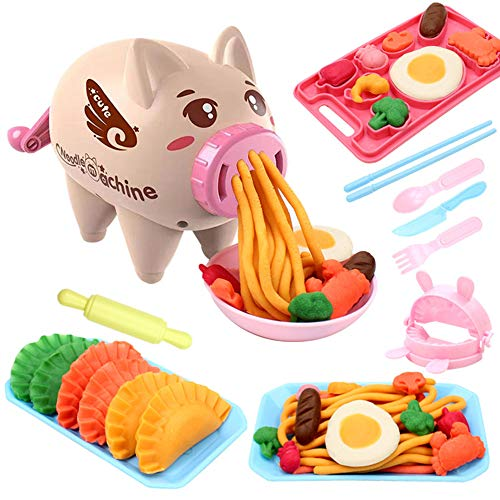 LVYE1 Farbtonnudelmaschine Nudelmaschine Knete Knetmasse Lehm Crafts Moulding Set pädagogisches Spielzeug für Kinder
