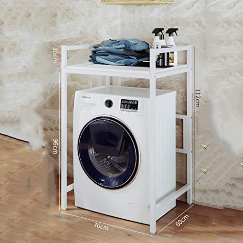 Rttzw ripiano per lavatrice scaffale bagno struttura in acciaio mensola lavatrice ripiano bagno mensola bagno singolo strato a doppio strato (colore : c, dimensioni : 112cm)