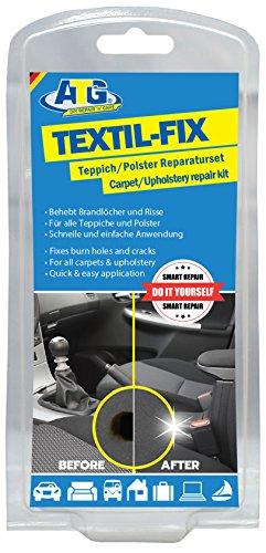 ATG - Autositz Brandloch Reparaturset - für alle Polster  - 13 teilig (sortierte Verpackung) (Schwarz Und Grau-schnitt-sofa)