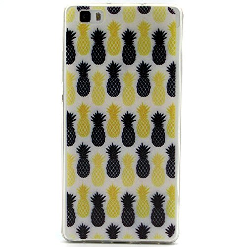 ISAKEN Schutzhülle iPhone 6S Plus Hülle,Tasche iPhone 6S Plus - iPhone 6S Plus Case [Scratch-Resistant], iPhone 6S Plus Ultra Slim Perfect Fit Bunte Malerei Muster TPU Protective back Hülle Hüllen Bes Gelb Schwarz Ananas
