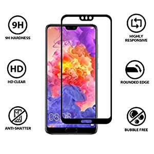 CELLBELL Huawei P20 Pro (Black)(Full Glue)(EGDE to Edge) Tempered Glass Screen Protector with Free Installation Kit