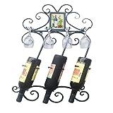 Weinregale an der Wand befestigtes Metallwein-Gestell-3 Flaschen-Halter-Speicher-Anzeige Perfekt für Küche, Bar, Keller, Kabinett und Pantry