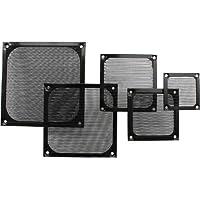 Griglia per ventola, in alluminio, 80 x 80 mm, colore: nero 7 pz