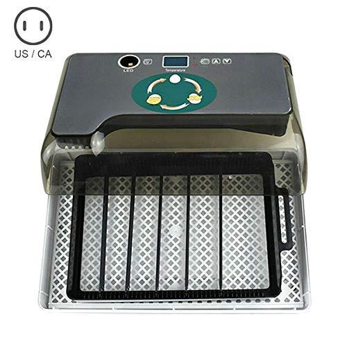 Zeaih Ei Inkubator, 12 Eier Geflügel Hatcher, Digital Vollautomatisch Hält 4-35 Eier für Hühner Enten - Uns Stecker