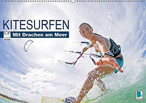 Kitesurfen: Mit Drachen am Meer (Wandkalender 2019 DIN A2 quer): Kitesurfen: Auf den Wellen fliegen (Monatskalender, 14 Seiten ) (CALVENDO Sport)