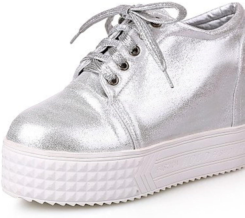 NJX/ hug Zapatos de mujer - Plataforma - Tacones / Plataforma - Tacones - Exterior / Casual - Semicuero - Blanco...