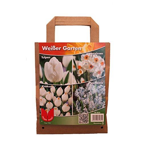 """Pflanzenservice Blumenzwiebel-Sortiment """"Weißer Garten"""", Bunt, 30 x 20 x 15 cm"""
