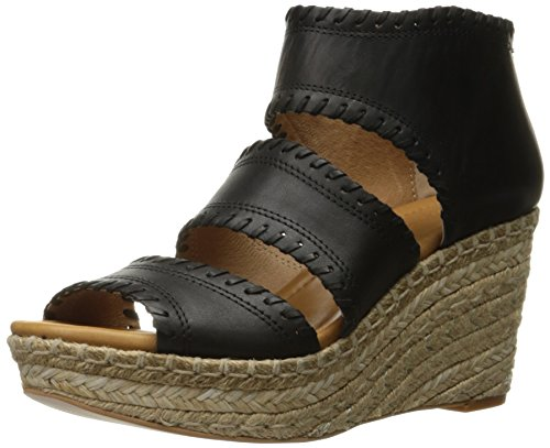 Corso Como Joyce Damen Leder Keilabsätze Sandale Black