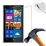 Lusee 2 x Pack Verre Trempé Protège pour Nokia Lumia 925 Vitre Film Protection d'écran Dureté 9H (Couvrir Uniquement la Partie Plate)