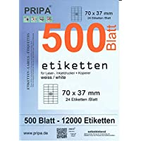 pripa–Etiquetas FBA, color 70x37 500Blatt-weiß