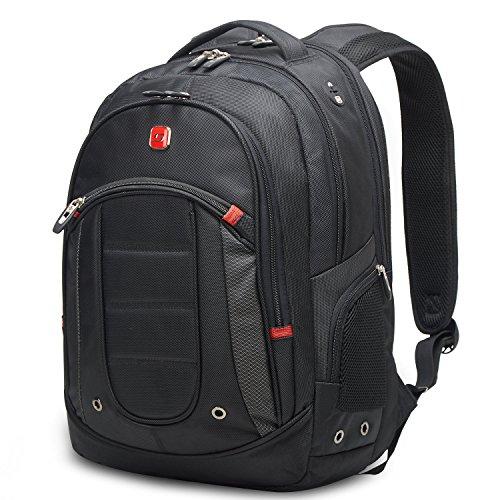 """Winkee SA9360 Sac à Dos pour Ordinateur Portable 15,6"""", Sac Dos Hommes Collège Noir"""