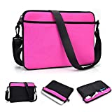 Kroo Uneversal Messenger/Sleeve Sac bandoulière avec poche pour accessoires et pour pour Toshiba Portege R930–117 Megenta