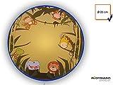 Liebevoll designte LED Wandlampe WILDE TIERE Ø25cm mit bruchsicherem Schirm, Safari Feeling fürs Kinderzimmer