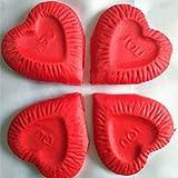 joyliveCY 144pcsIch Liebe Dich Herz Künstliche Blumenblatt für Hochzeits Arrangement Brautstrauß Big Red