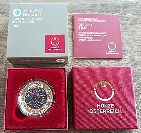 Silber Niob Münze Die Zeit Österreich 2016