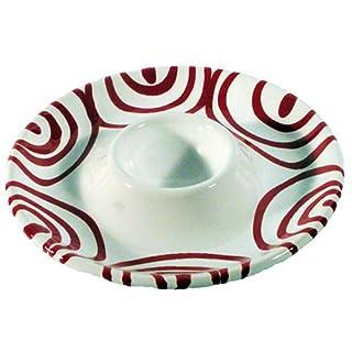 GMUNDNER KERAMIK Eierbecher glatt | Durchmesser : 12 cm | Rotgeflammt | Geschirr, handgemacht in Österreich