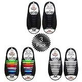 Oumers Keine Schnürsenkel, Lazy Tieless Silikonkautschuk Sneaker Schnürsenkel für Kinder und Erwachsene, Wasserdicht/Haltbar, Off