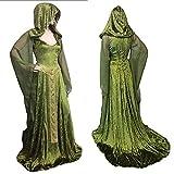 Yamyannie Unisex Halloween Costume cosplay del mantello con cappuccio integrale da adulto (Colore : Verde, Dimensione : M)