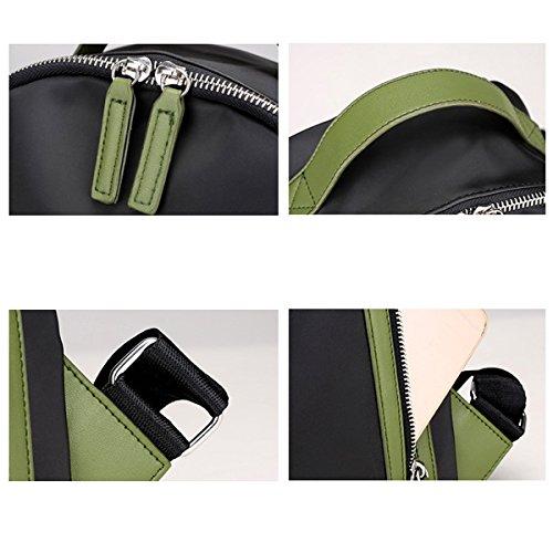 Nylon Damen Frauen Weich Leicht Hit Farbe Art Und Weise Vielseitig Rucksack Handtasche Green