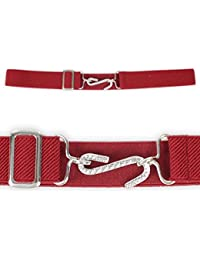 "Elastic kids snake belt - 1"" (25MM) Wide elastic belt - Various Colours. (Red)"