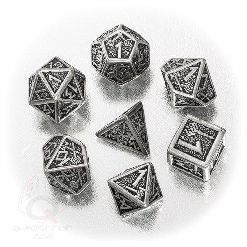Metal-Black Dwarven Dice Set - 7 dice