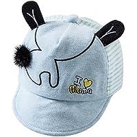 5d9219dfe86 Lonshell Bebé Sombreros y Gorras, Bebé Niños Niñas Sombrero de béisbol de  Orejas, Raya