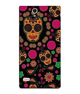 PrintVisa Designer Back Case Cover for Sony Xperia C4 Dual :: Sony Xperia C4 Dual E5333 E5343 E5363 (Charming Skull In Peppy Colours)