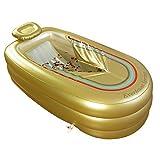Badewanne XL aufblasbare Kunststoff verdickt, Erwachsenen PVC Falten Fass Dusche, tragbare, elektrischer Pumpe, 168cm*78cm*45cm