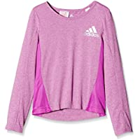 Adidas Yk R G LS tee - Camiseta de Manga Corta para niñas de 13-14 años, Color Morado