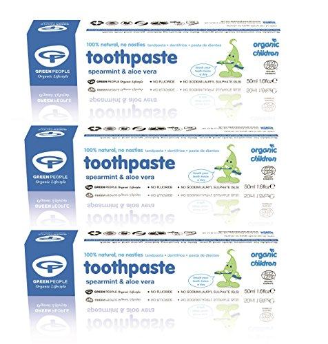 Organic Children Aloe Vera & Spearmint Toothpaste - 50ml (Natürliche Fluorid-freie Zahnpasta)