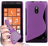 Cadorabo - Custodia silicone TPU S-Line Design per Nokia Lumia 620 - Case Cover Involucro Bumper Astuccio in LILA-ORCHIDEA