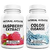 Raspberry Ketone and Colon Cleanse Detox Combo High Quality Supplement 60x Raspberry Ketone Extract and 60x Colon Cleanse Detox