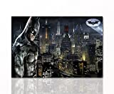 Berger Designs Batman Leinwand-Bild by Superhelden Wandgestaltung Gotham Wandbilder DC Comics Film Wanddeko Kunstdruck Comicfiguren DC Universe Bruce Wayne | 80 x 120 cm Hochwertiger Leinwanddruck