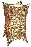 Naeve Leuchten Korbtischleuchte. Rattan. natur 30 x 16 cm. 339727